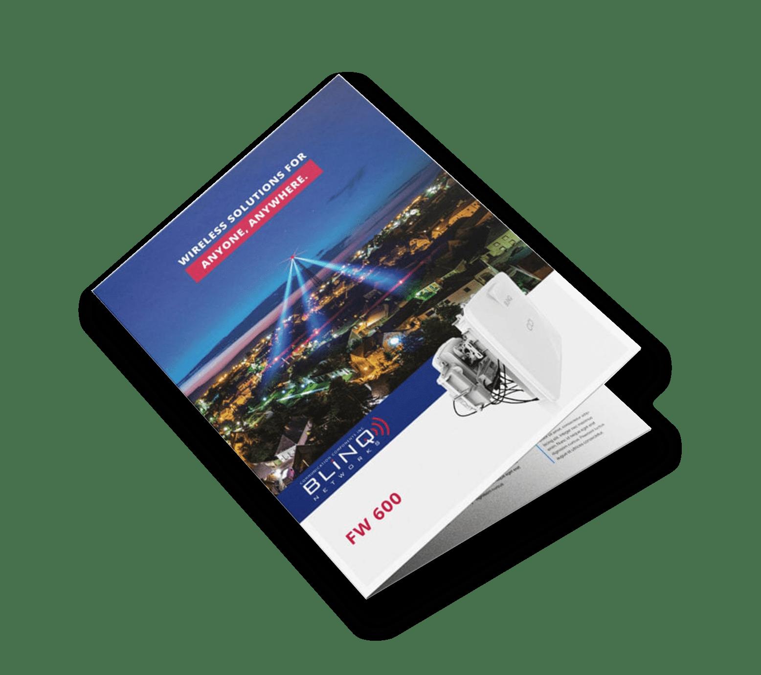blinq networks fw600 base station specification sheet brochure
