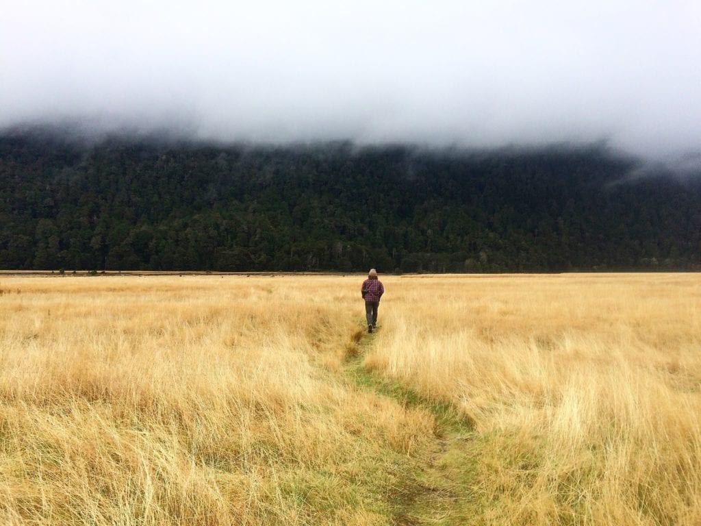 Man standing in rural area